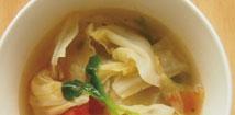 広甘藍とハーブのじんわり蒸し煮スープ