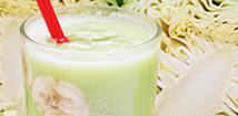 ココナッツ風味の広甘藍汁粉